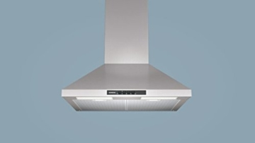 Siemens LC64WA521 iQ100 Kaminhaube / 60 cm / Die Lüfterleistung von 400 m3/h sorgt für frische Luft beim Kochen / Edelstahl -